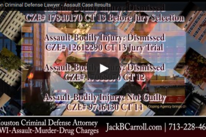 A Houston Criminal Defense Lawyer's Assault Case Results